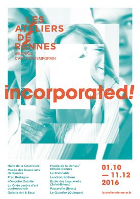 HEUX ASSURANCES partenaire de INCORPORATED !, la biennale d'art contemporain de Rennes.